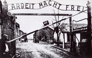 "Auschwitz gate: ""Work sets you free."""