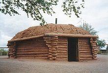 A traditional Navajo hogan.