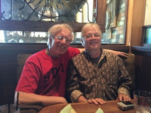 How cool to once again hang with Hank Garfield (r).